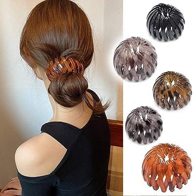 Women Expandable Ponytail Holder Clip Bird Nest Shaped Hair Clip UK