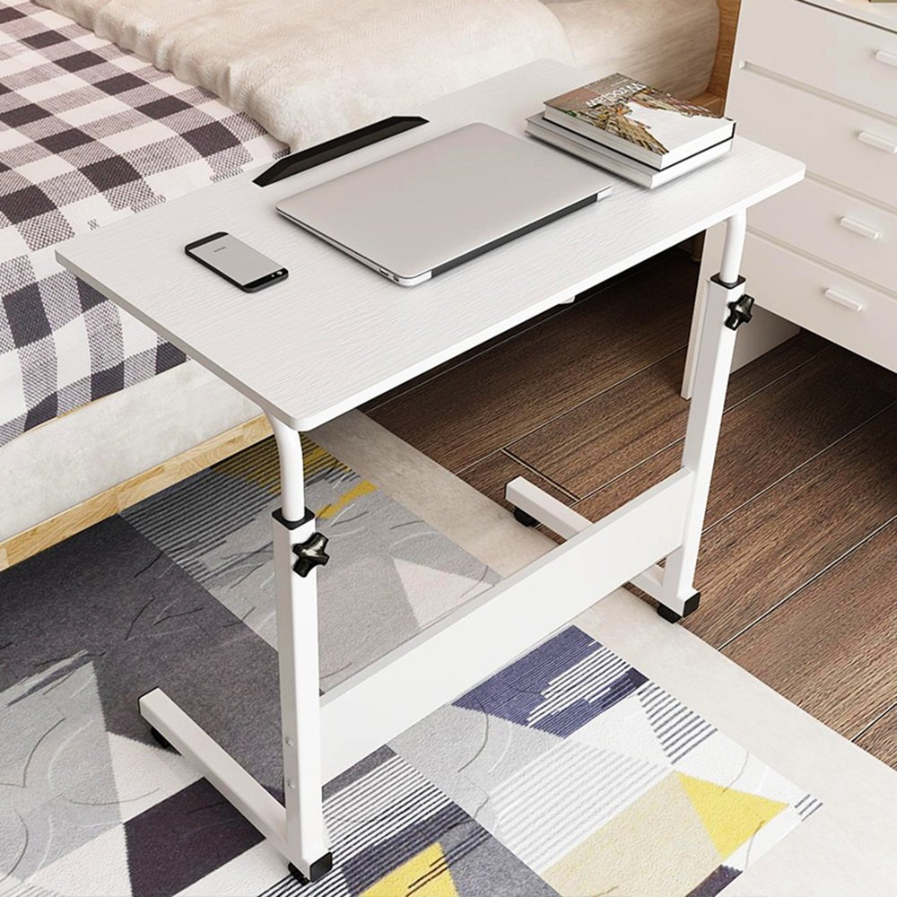 FEIFEI モバイルラップトップテーブル、C型構造研究テーブルデスク、高さ調節可能、ソファキャビネット ( 色 : 白 , サイズ さいず : 80*50cm ) B07C7S1HXP 80*50cm|白 白 80*50cm
