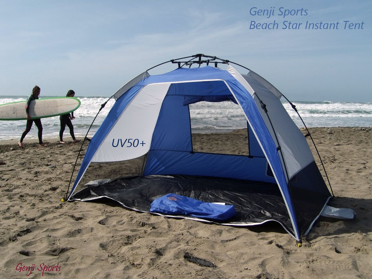 Amazon.com Genji Sports Instant Beach Star Tent Blue Sports u0026 Outdoors & Amazon.com: Genji Sports Instant Beach Star Tent Blue: Sports ...
