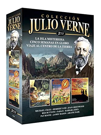 Julio Verne Colección 3 La Isla Misteriosa + Cinco Semanas en Globo + Viaje al Centro de la Tierra
