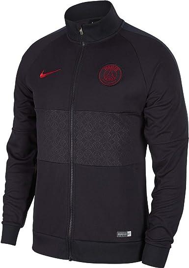 Acurrucarse menta Oferta de trabajo  Amazon.com: Nike Men's Soccer Paris Saint Germain Jacket: Clothing