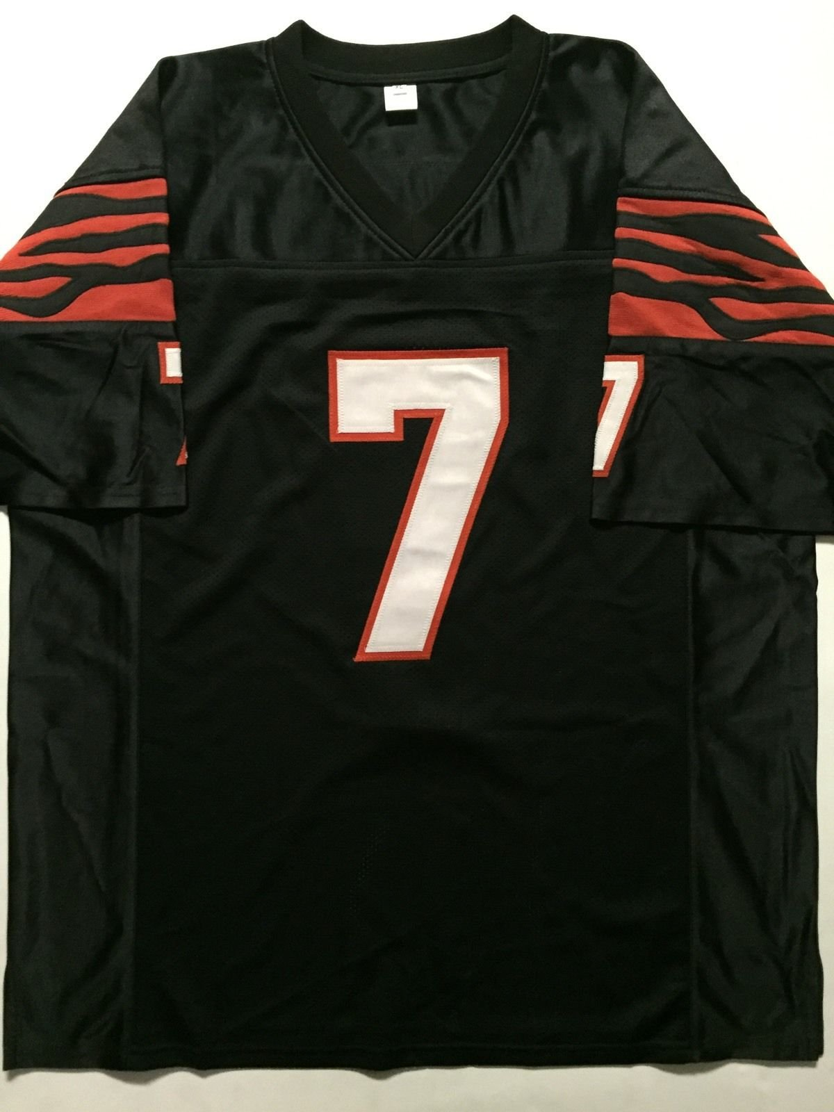 Autographed/Signed Boomer Esiason Cincinnati Black Football Jersey JSA COA