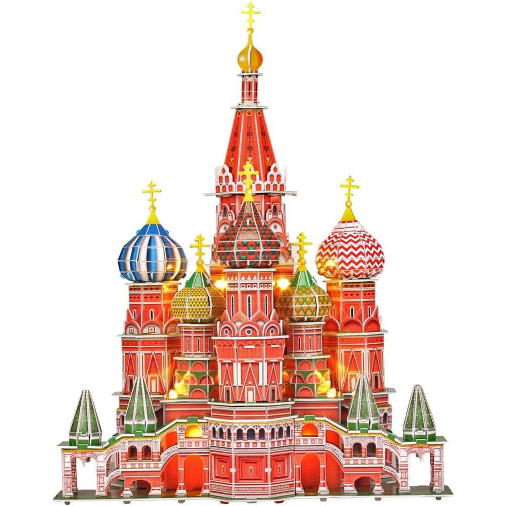 (St. Basil's Cathedral) - Cubic Fun Fun 3d Cathedral puzzle Cathedral) Saint Basil's Cathedral LED (771l519) B01BPHI2MY, オビラチョウ:a8b7655d --- m2cweb.com