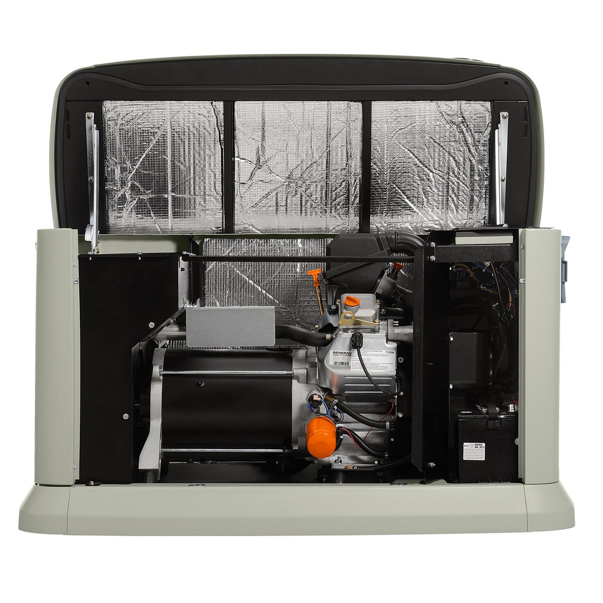 Amazon generac 6461 guardian series 16kw air cooled standby amazon generac 6461 guardian series 16kw air cooled standby generator natural gasliquid propane powered steel enclosed with 16 circuit 100 amp sciox Image collections