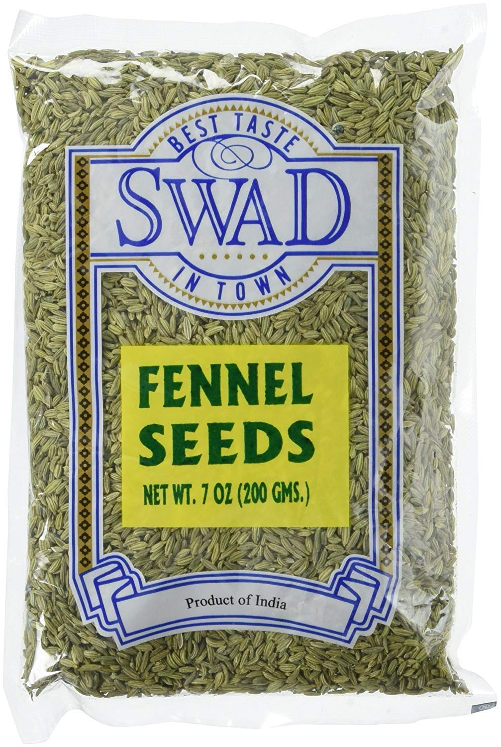 Great Bazaar Swad Fennel Seeds, 7 Ounce (7oz)