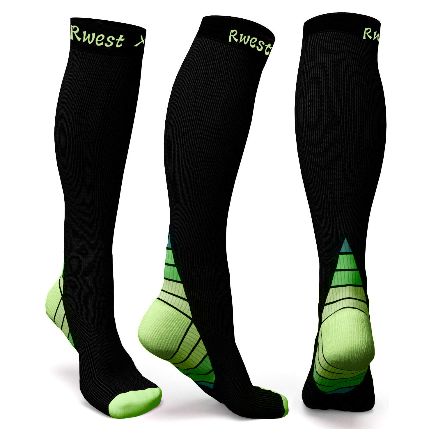 Calcetines de compresión Medias de compresión para Hombres y Mujeres, Deporte, Trotar, Correr