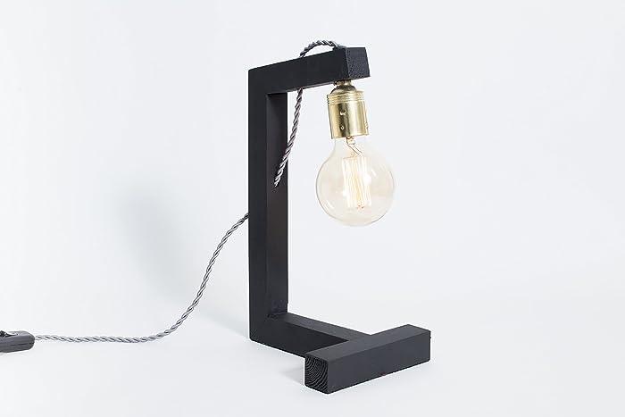 Lampe en bois lampe edison lampe de table lampe design lampe