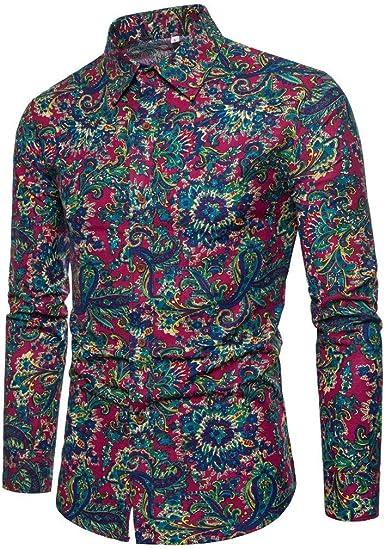 Poachers Camisas Hawaianas Hombre flamencos Camisas Hombre Manga Larga Flores Camisas Hombre Verano 2019 Camisetas Hombre Originales Frikis Camisas de Hombre de Vestir: Amazon.es: Ropa y accesorios
