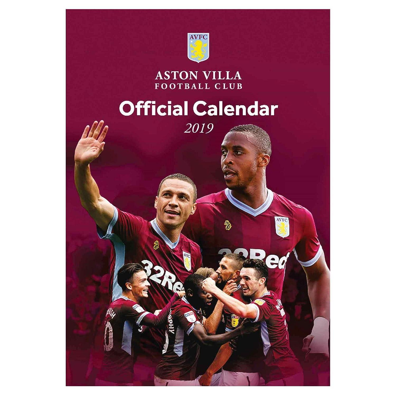 Offizielles Aston Villa 2019 Fuß ball Kalender (A3) Aston Villa FC CAL ASTON VILLA 2019 GER
