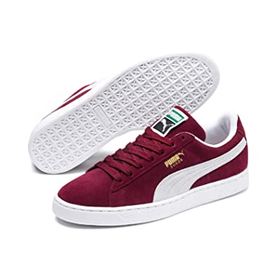 pick up 90109 5cb83 Puma Suede Classic+, Unisex Adults Low-Top Trainers, Red (Burgundy White  75), 6.5 UK (40 EU)  Amazon.co.uk  Shoes   Bags