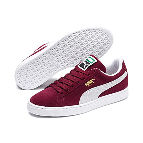 sale retailer 27477 d0997 Puma Suede Classic+, Unisex Adults Low-Top Trainers, Red (Burgundy/White  75), 4.5 UK (37.5 EU)