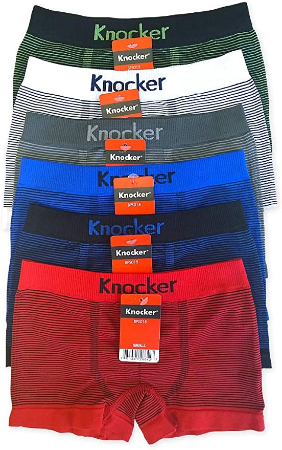 Knocker Youth Boys Sports Soccer Seamless Underwear 6 Pair Multipack