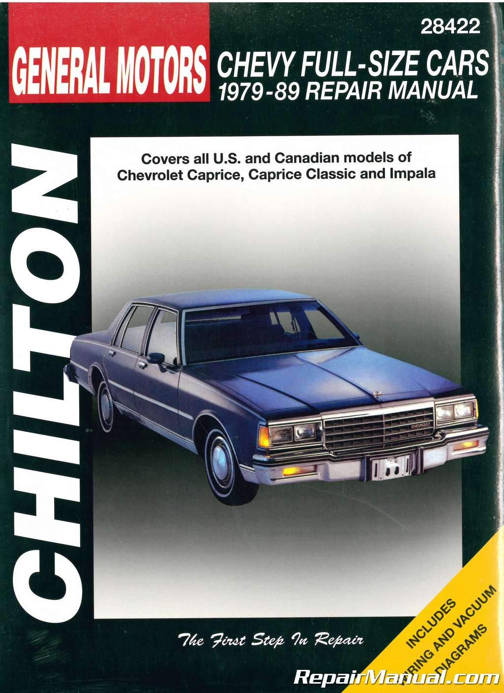 Download CH28422 Chilton Chevrolet Full-Size Cars 1979-1989 Repair Manual PDF