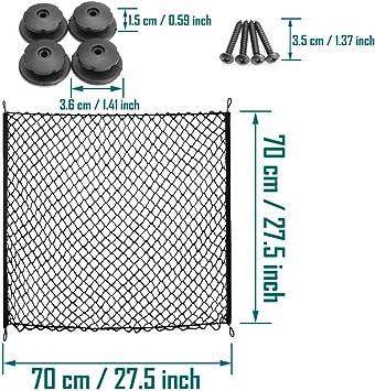 70cm*70cm Car Boot Van Truck Cargo Net Bungee  Hooks Luggage Roof Rack