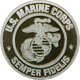 product image for Aluminum Grave Marker Marine Corps, Cemetery Memorial Flag Holder, Veteran Plaque, Made in USA