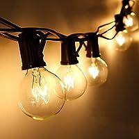 Qomolo Lichtketting voor buiten, G40, 29 lampen, tuinverlichting voor binnen en buiten, met reservelampen, 9,5 meter…