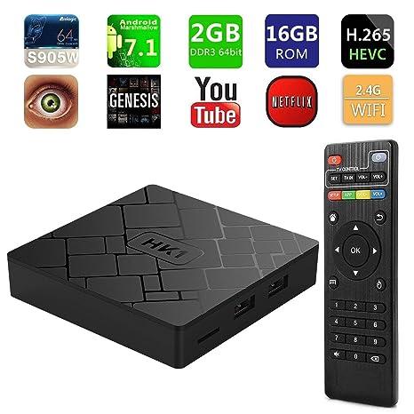 4K Amlogic S905W 1GB 2GB Android 7.1 Quad Core WIFI 3D Smart TV BOX Media Player
