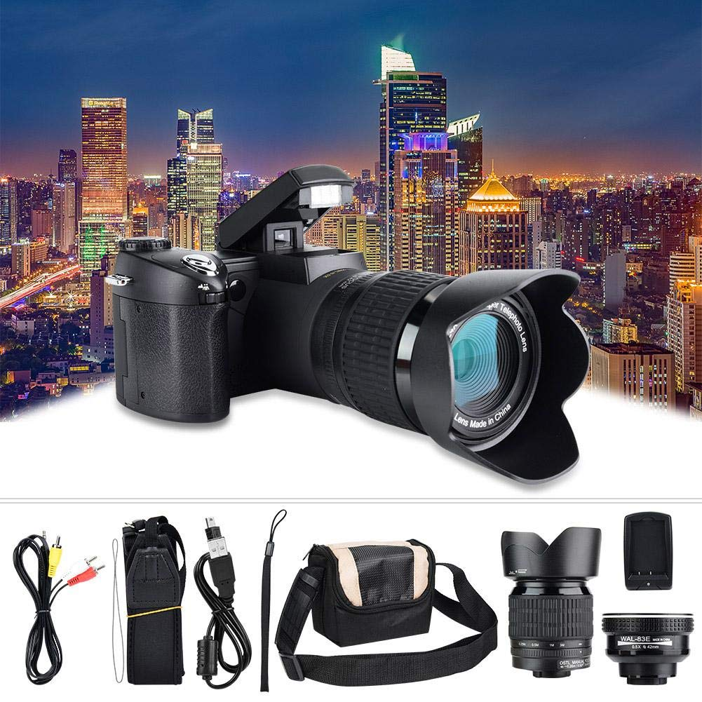 Digital Camera FHD 33MP 1080P Digital Camera Portable Camcorder with Wide Angle Lens and Camera Bag 24X Zoom Telephoto Lens for YouTube Vlog Camera Recorder by EBTOOLS
