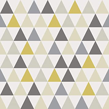 Amazing Wall Yellow Triangle Peel And Stick Self Adhesive Wallpaper 15 7x198inch Amazon Com