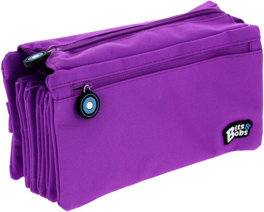 Grafoplás 37543331. Estuche 4 Compartimentos, Azul Pastel, 23x12cm, Bits & Bobs: Amazon.es: Oficina y papelería