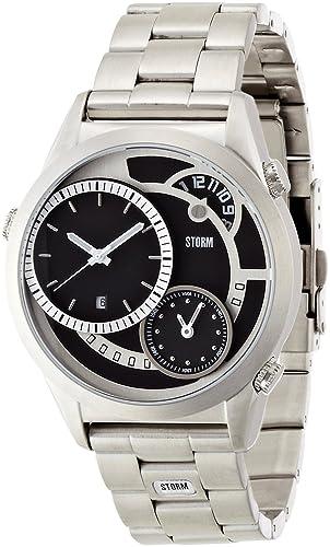 Storm Reloj Saturn negro 4662bk hombre [Regular importados]: Amazon.es: Relojes