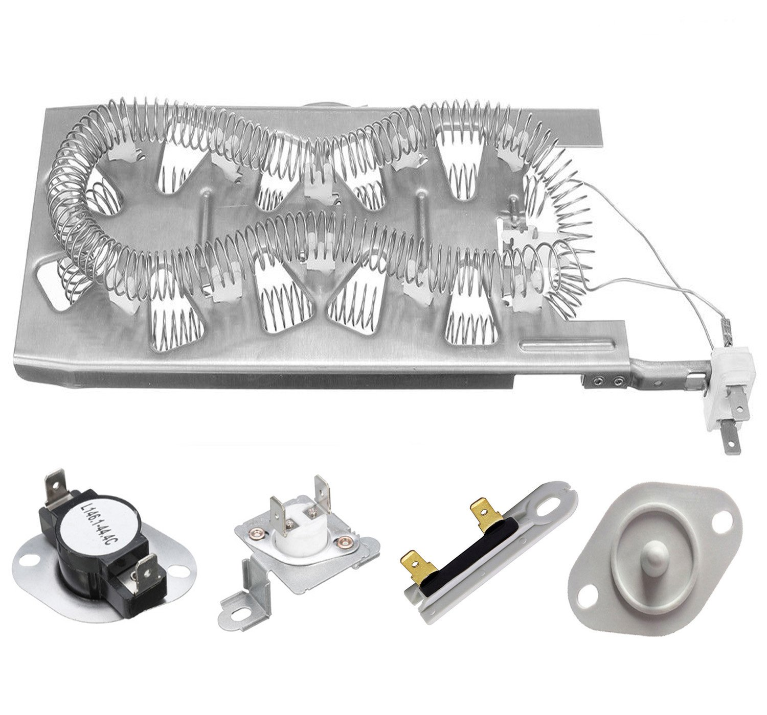 Siwdoy 3387747 & 279973 & 3392519 & 8577274 Duet Dryer Heating Element Thermal Cut Off Kit with Thermistor & Thermal Fuse for Whirlpool