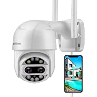 HeimVision PTZ Security Camera Outdoor, 2x2MP Ultra HD Dual Lens, Pan/Tilt/12X Zoom, 360° View, Wi-Fi Wireless Camera…