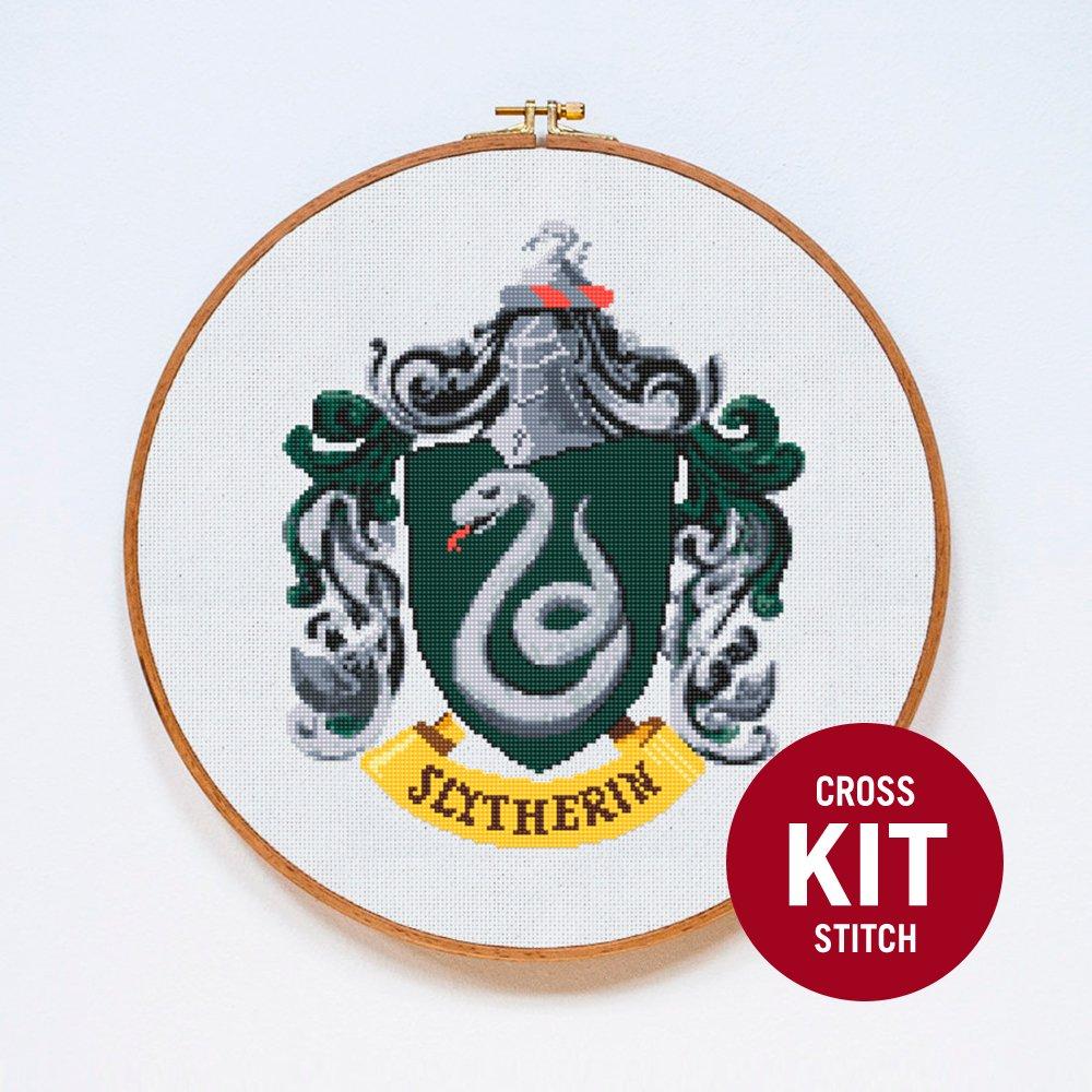 Slytherin Crest Cross Stitch Kit by Stitchering