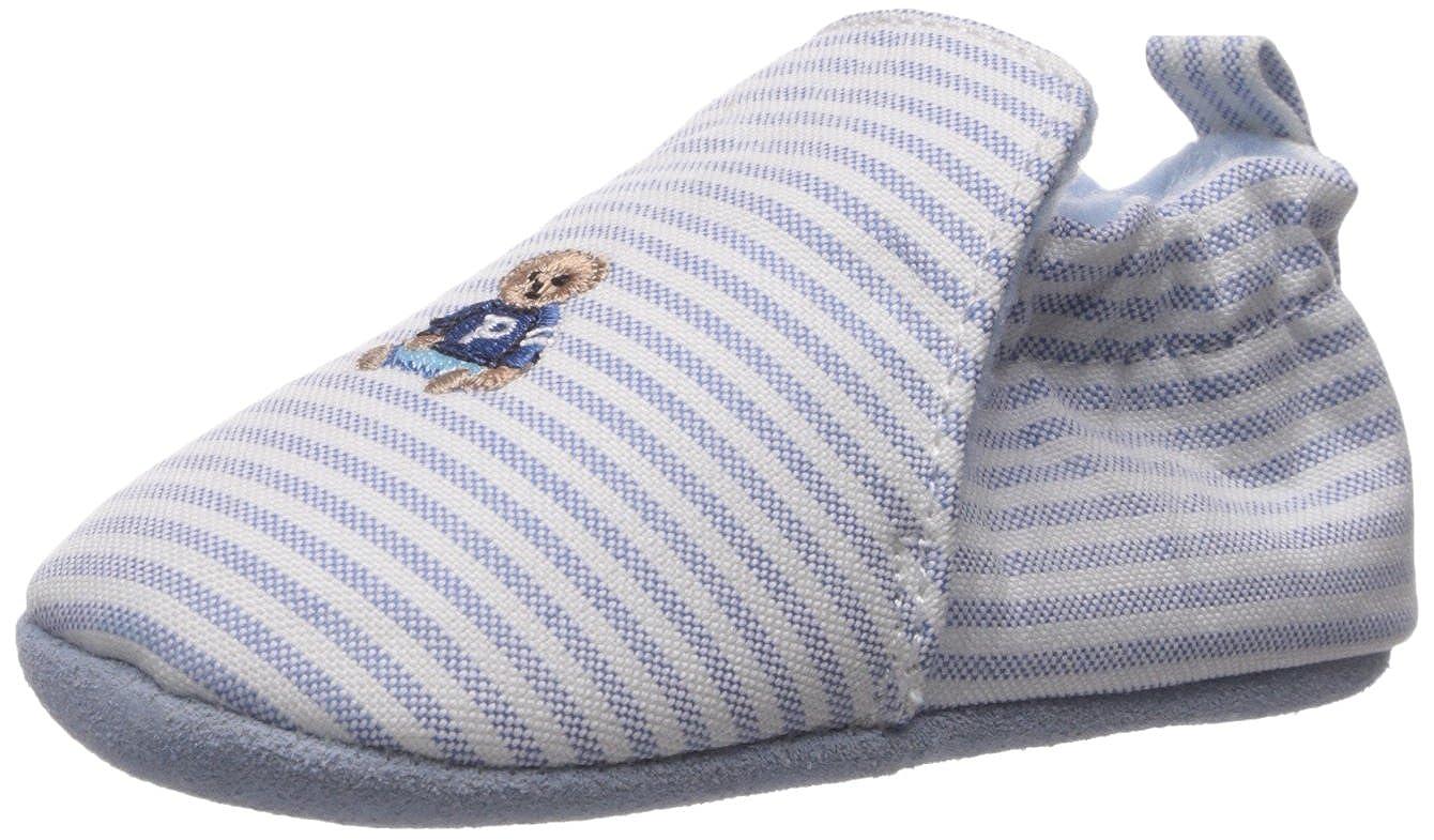 Blue Stripe//Multi Polo Ralph Lauren Kids Boys Percie Slipper 3 M US Infant