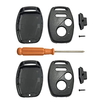 Keyless Entry Key Fob Case Cover Fits for Honda 2003-2012 CR-V Pilot Accord Civic Hybrid EX EX SE 2009-2015 Element Key Fob Shell (3 Buttons Pack 2): Automotive