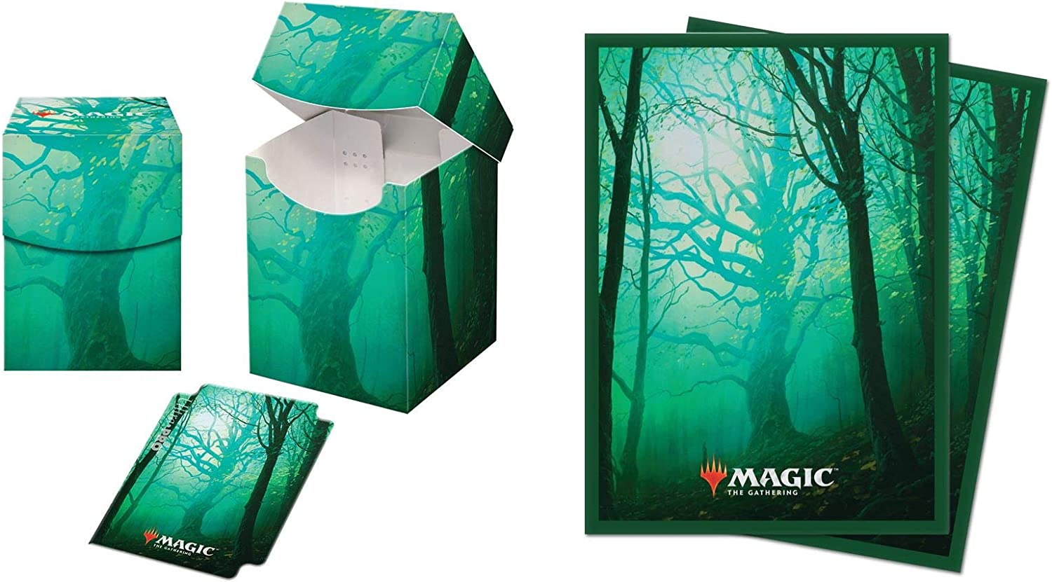 ULTRA PRO PRO DECK BOX Unstable lands Forest CARD BOX FOR 100 MTG CARDS