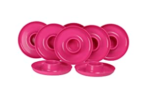 GreatPlate GP-PINK-8PK AZ Pink Plate 8-Pack, 8 Pink GreatPlates, Food Tray and Beverage Holder, Dishwasher Safe, Microwave Safe, Made in USA, Picnics, Parties, Tailgates, Appetizers, Great for Kids