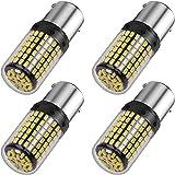 AOICANKI 2000 Lumens 1156 LED Bulbs BA15S P21W 7506 LED Light Bulbs Replacement for Backup Reverse Light Bulb Tail Light 6000K White (4 Pack)
