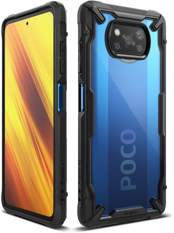 Ringke Fusion-X Compatible con la funda NFC Poco X3-Azul