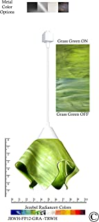 product image for Jezebel Radiance JRWH-FP12-GRA-TRWH White Flame Track Light, Small, Grass Green