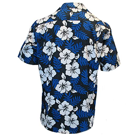 95a7b30e7 Robert J. Clancey Mens Clancey Classic Authentic Blue Hibiscus Hawaiian  Shirt S-2XL: Amazon.co.uk: Clothing