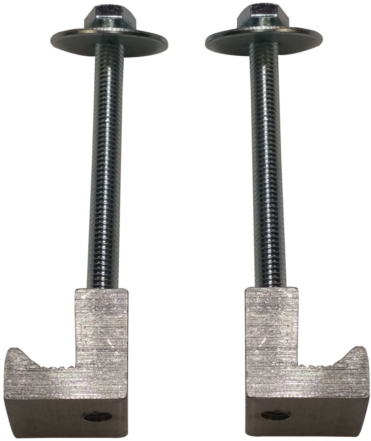 (2 Pack) Easy Mount - Truck Tool Box J Clamps - Aluminum Tie Downs JQuad