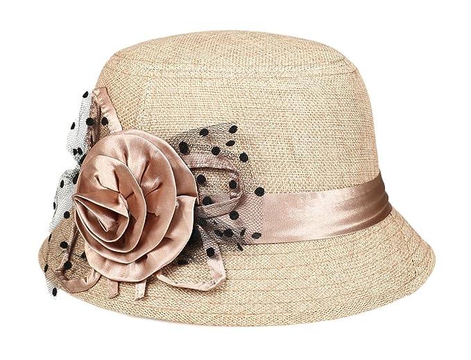 1920s Style Hats  Straw summer hat shading ventilation sun hat fascinators $9.99 AT vintagedancer.com