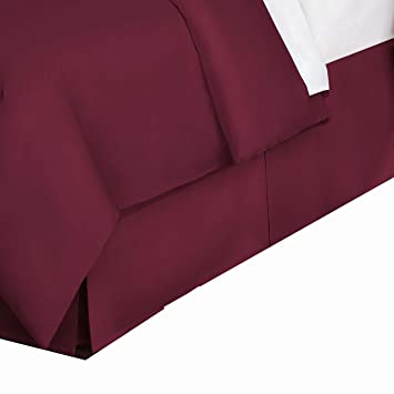 Belles & Whistles LEV27618MERL03 Bed Skirt, Queen, Merlot