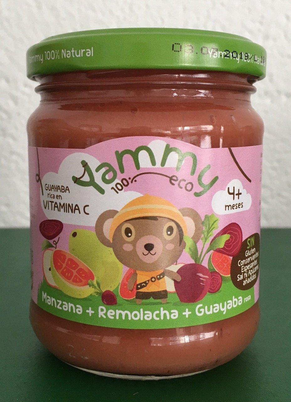 Yammy - Potito Ecológico de Frutas: Manzana+Remolacha+Guayaba Rosa Pack 6 Unidades: Amazon.es: Alimentación y bebidas