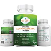 Next Gen U | Organic Ashwagandha Veggie Capsules | 120 Easy Swallow Pills | Anti Anxiety Stress Relief Tablets | Soil Association Vegan Society Certified | Ayurveda Formula Called Withania Somnifera