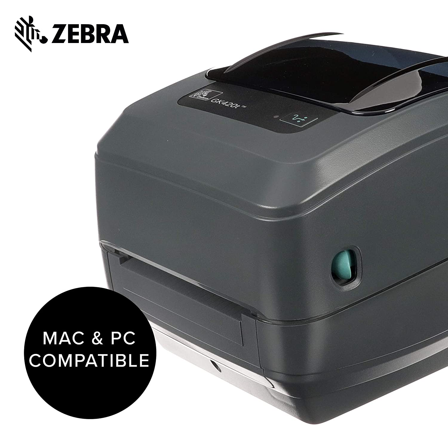 Zebra - GK420t Thermal Transfer Desktop Printer for Labels, Receipts,  Barcodes, Tags, and Wrist Bands - Print Width of 4 in - USB and Ethernet  Port