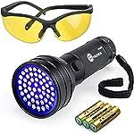 TaoTronics TT-FL002 Black Light, 51 LEDs Uv Blacklight Flashlights Detector for