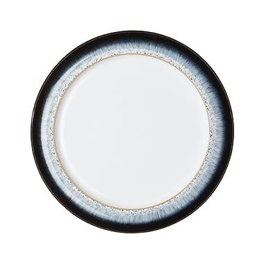 Denby Halo Wide Rimmed Salad Dessert Plate, Set of 4