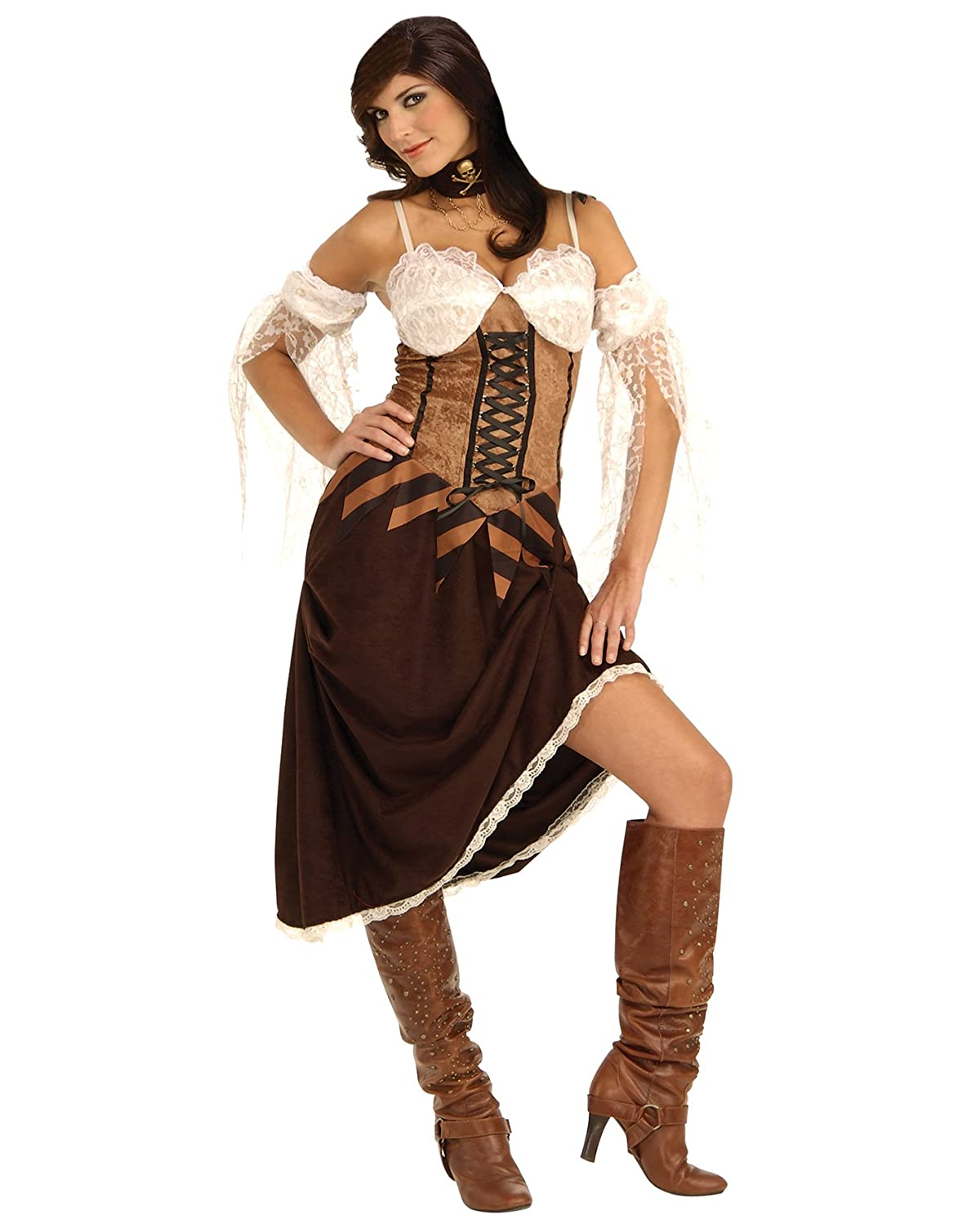 Amazon.com: Sexy Pirate Costume Corset Dress Buccaneer Wench ...