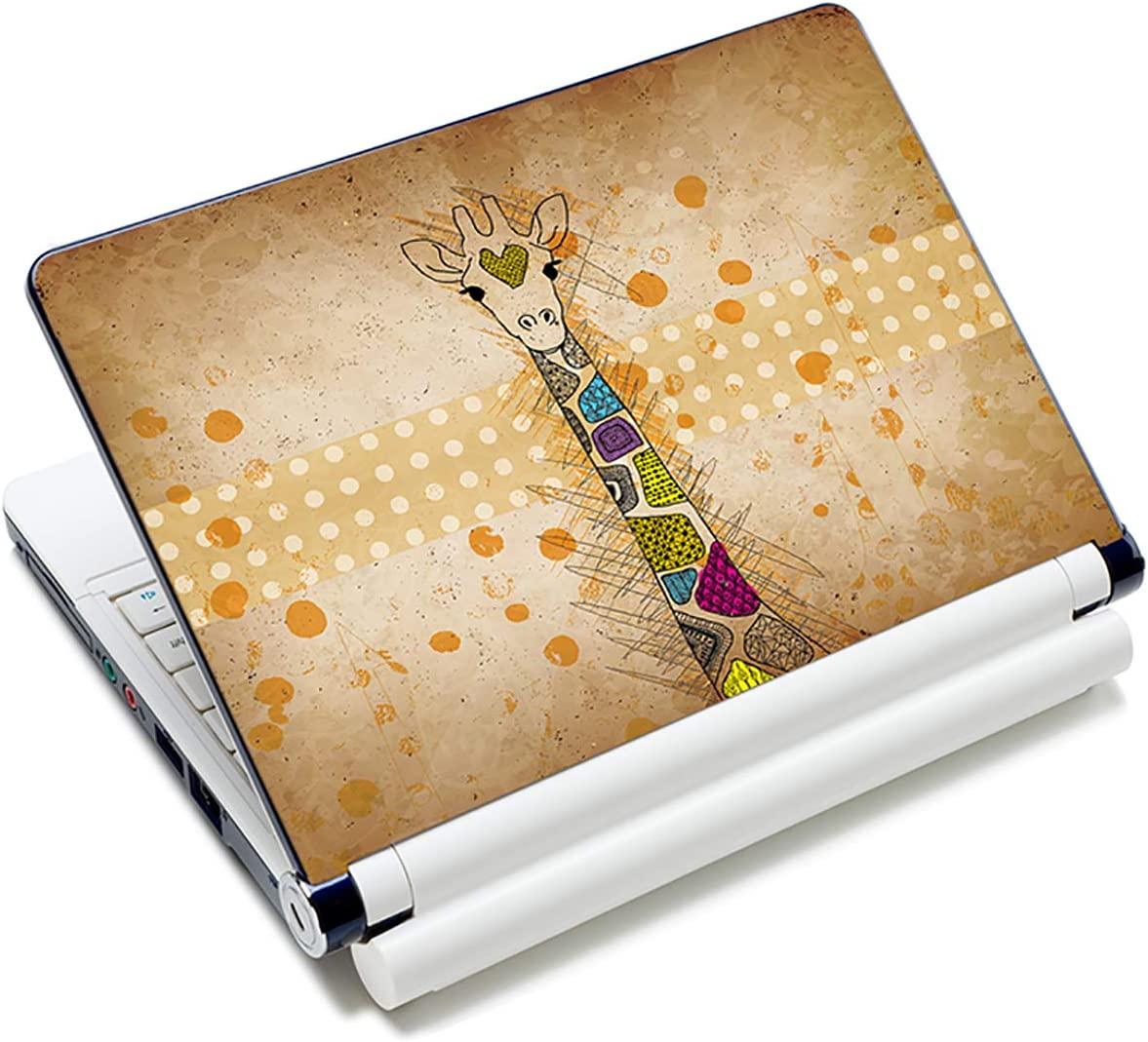 Giraffe 12.1 13 13.3 14 15 15.4 15.6 Inches Personalized Laptop Skin Sticker Decal Universal Netbook Skin Sticker Reusable Notebook PC Art Decal Protector Cover Case by AORTDES