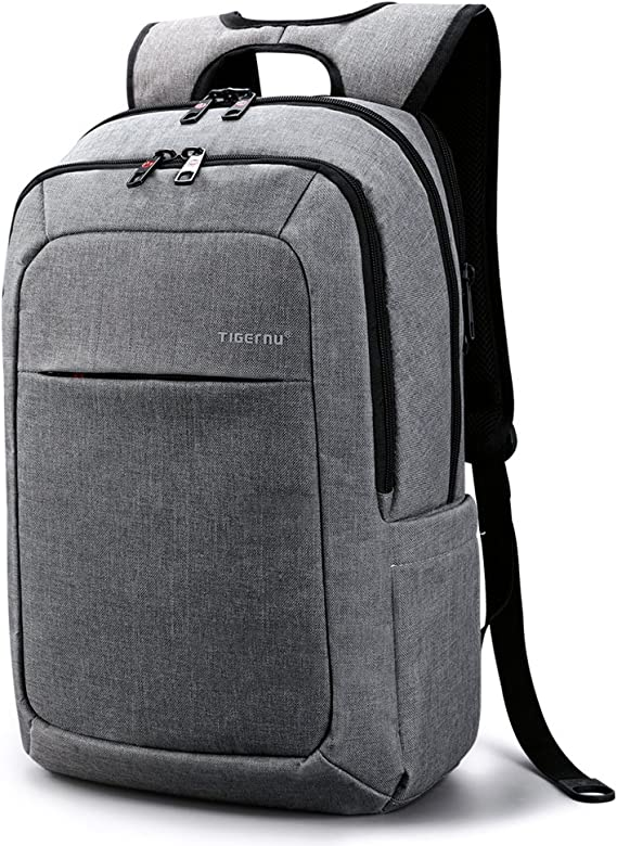 Tigernu Slim Padded Ergonomic Computer Bag Laptop Bag Backpack for Laptops and Notebooks up to 15.6 Inch School Secure Gray Backpack for Men Women Valentines Gift(Light Grey): Amazon.ca: Electronics