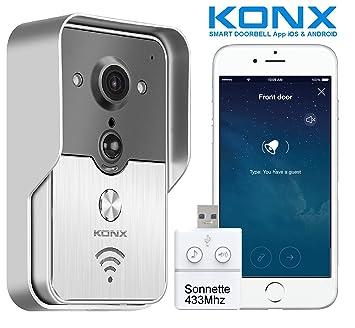 Videoportero conectado KONX KW01 Gen2, 720p; Wi-Fi, Full Duplex; con