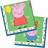 Tovaglioli di carta Peppa Pig per compleanno, motivo festa di carnevale, 33 cm, 16 pz