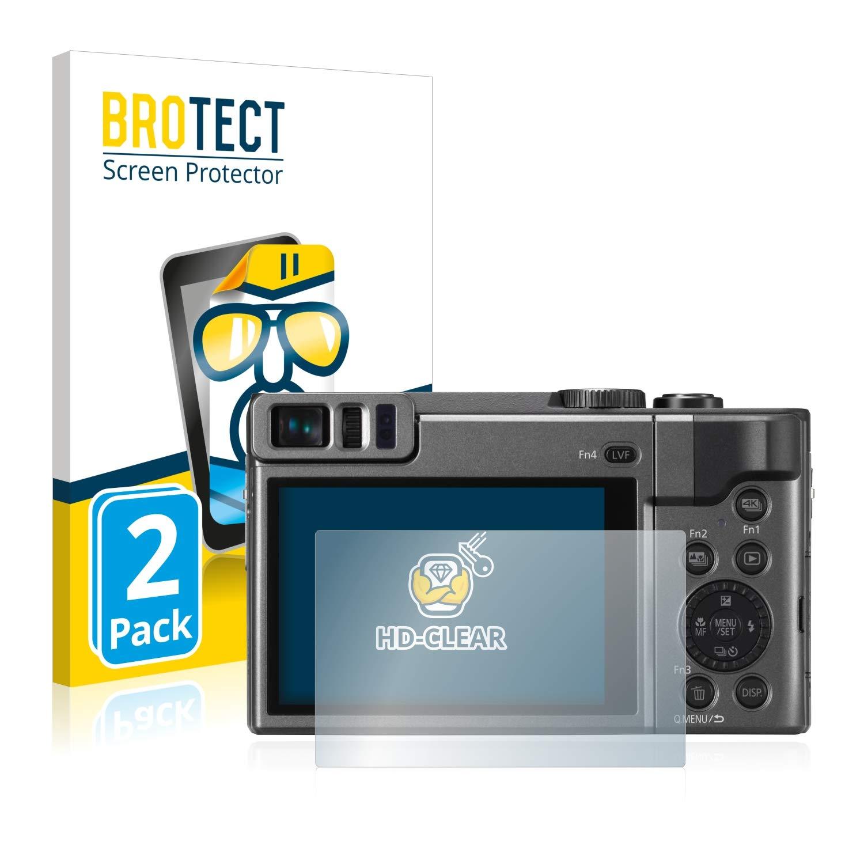 - HD-Clear Ultra-Sottile 2 Pezzi Anti-Impronte BROTECT Pellicola Protettiva compatibile con Panasonic Lumix DC-TZ90 Senza Bolle